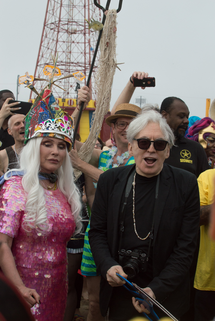King Neptune Chris Stein and Queen Mermaid Debbie Harry opening the beach at the Coney Island Mermaid Parade