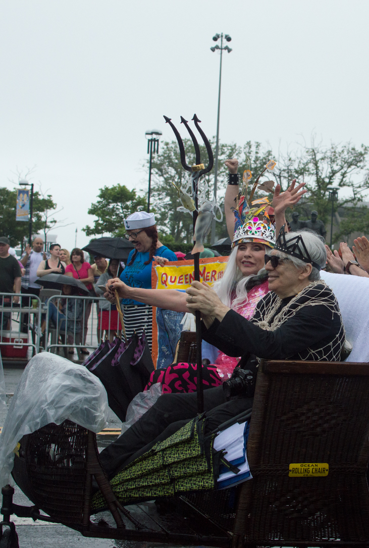 King Neptune Chris Stein and Queen Mermaid Debbie Harry at the Coney Island Mermaid Parade