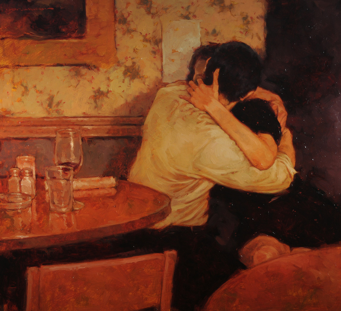 Cafe Lovers #4 24x26-SOLD