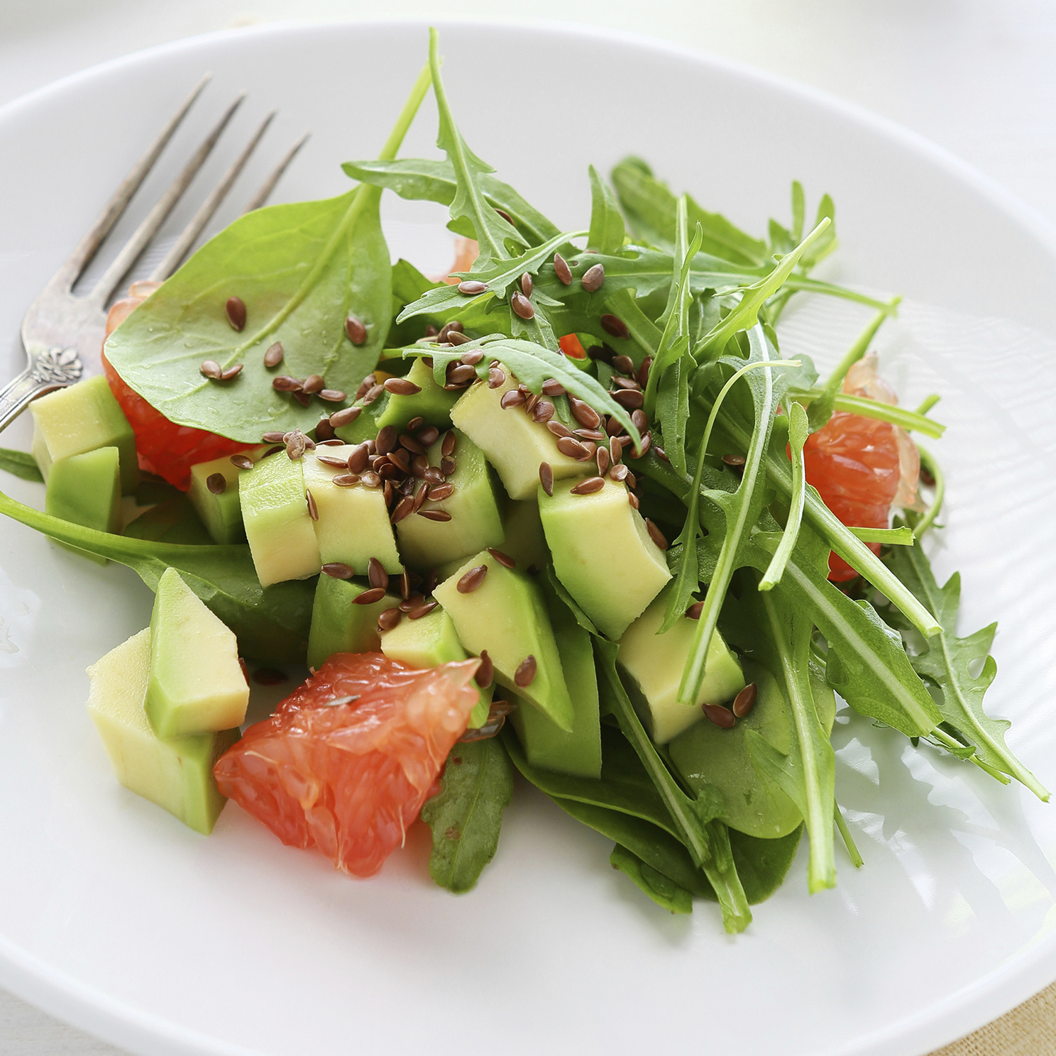 pomelo + avocado salad