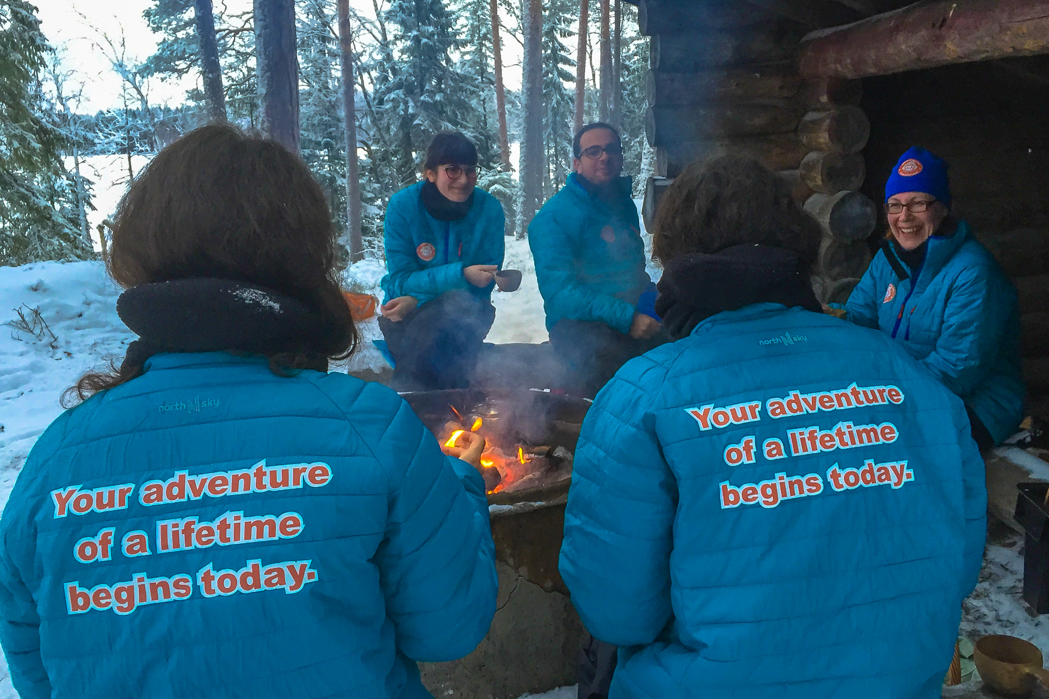 Outdoor dining in Kuusamo