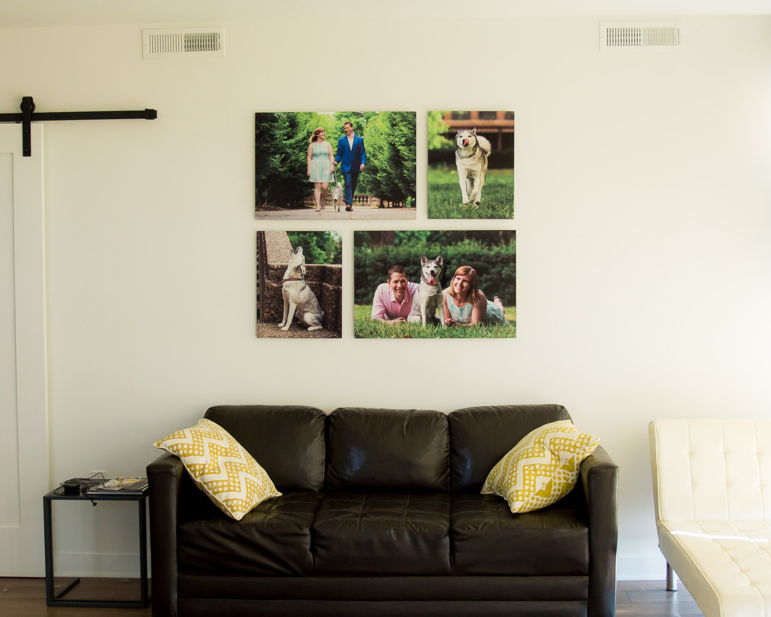 "You can choose to have multiple metal prints or just one. In this case we have two 20"" x 30"" prints and two 16"" x 20"" prints."