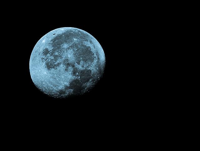 Full moon shot taken down bath