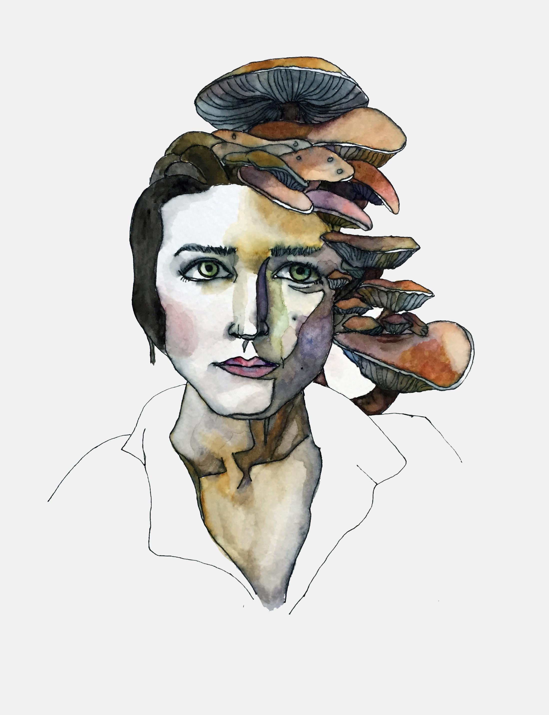 2015.07.06.Mushroom Mind.watercolor. woman head.jpg
