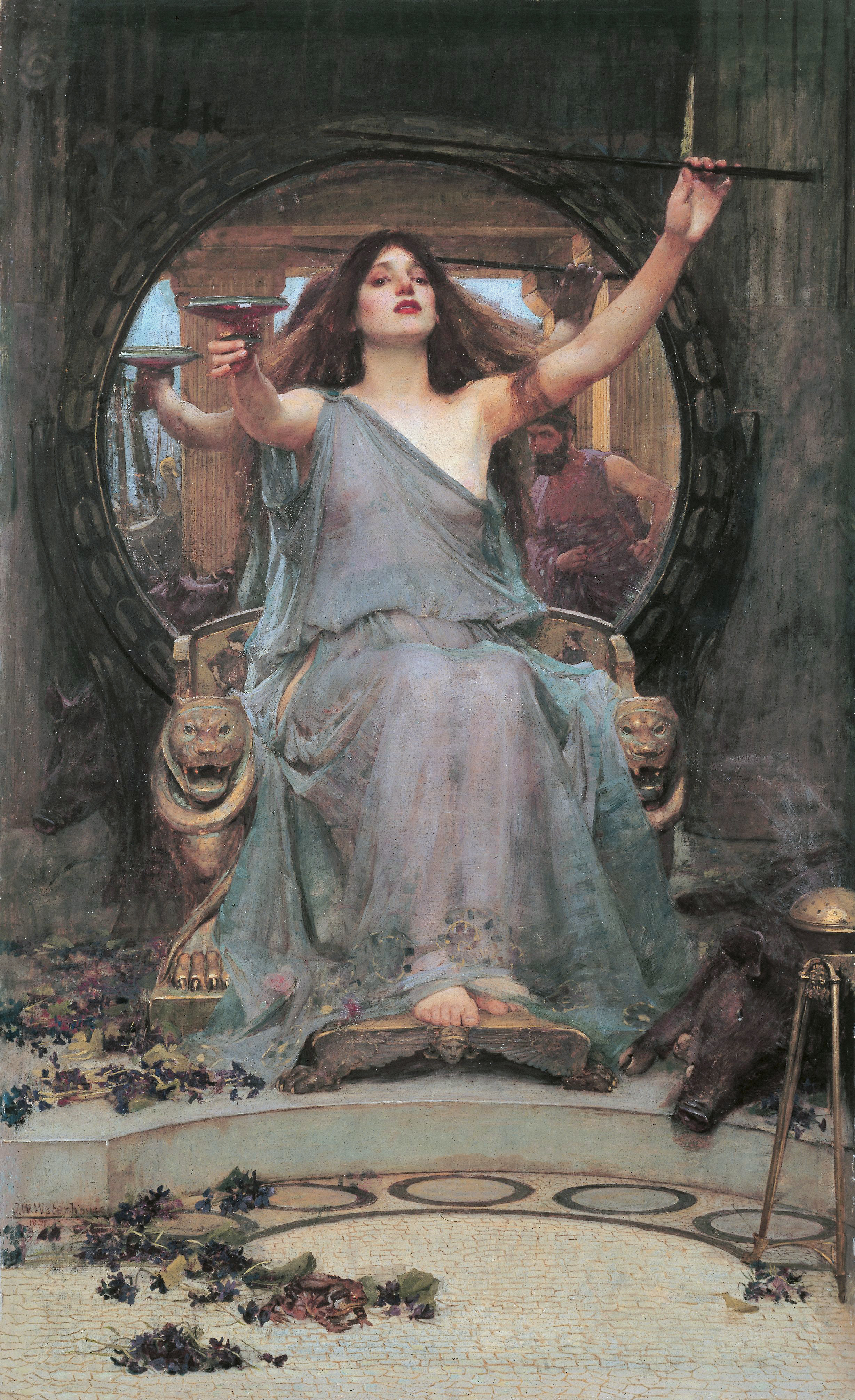 Circe Offering the Cup to Odysseus by John William Waterhouse (1849-1917); [Public domain] via Wikimedia Commons