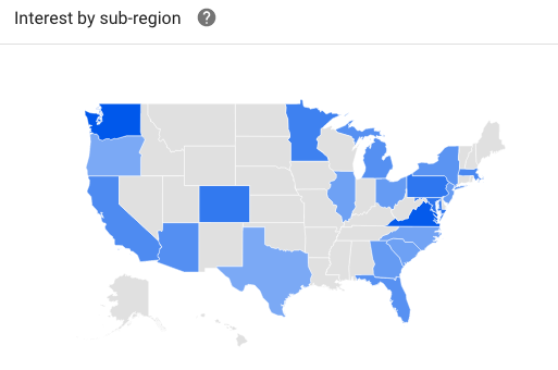 Interest in Walkability by State