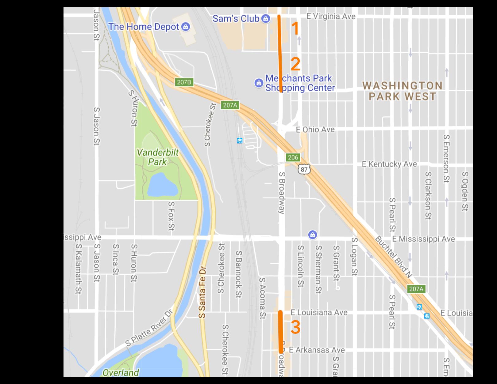 Denver Design District - Potential Blocks