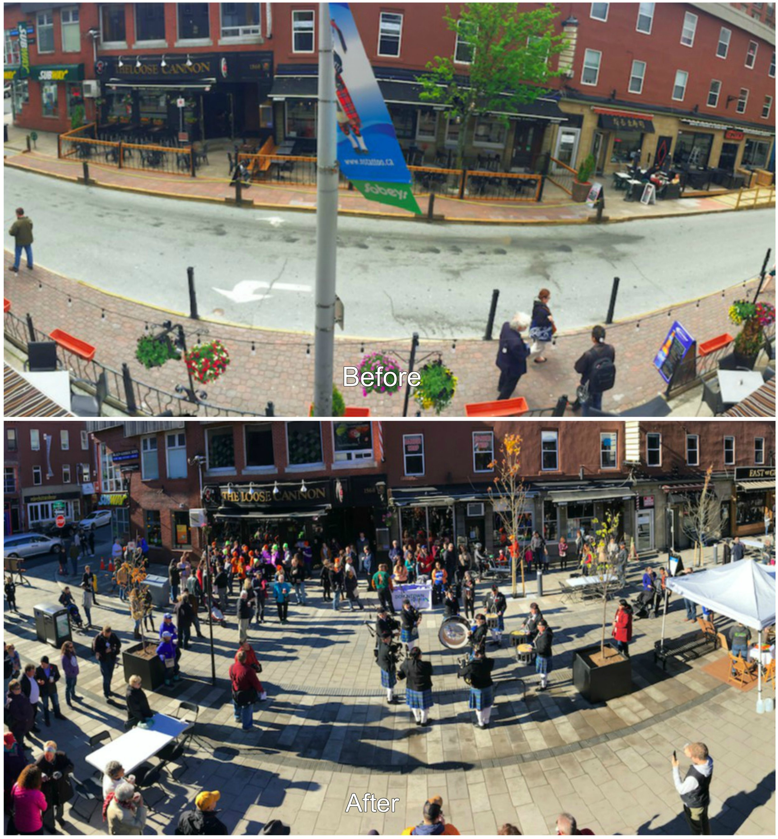 Argyle and Grafton Before and After from  Streetsblog USA