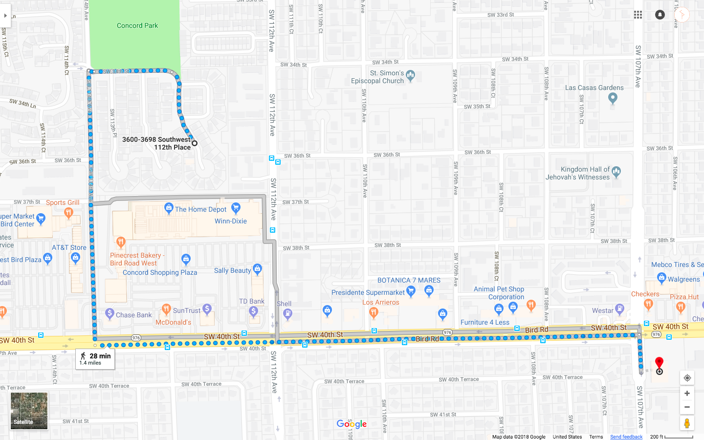 My Miami Walk from home to CVS