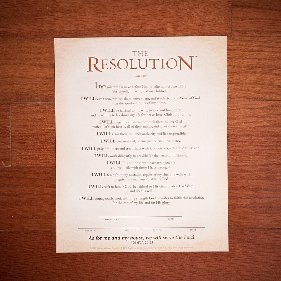 "Copyright - Sherwood Baptist Church. You can purchase of copy of ""The Resolution"" by clicking the image above."