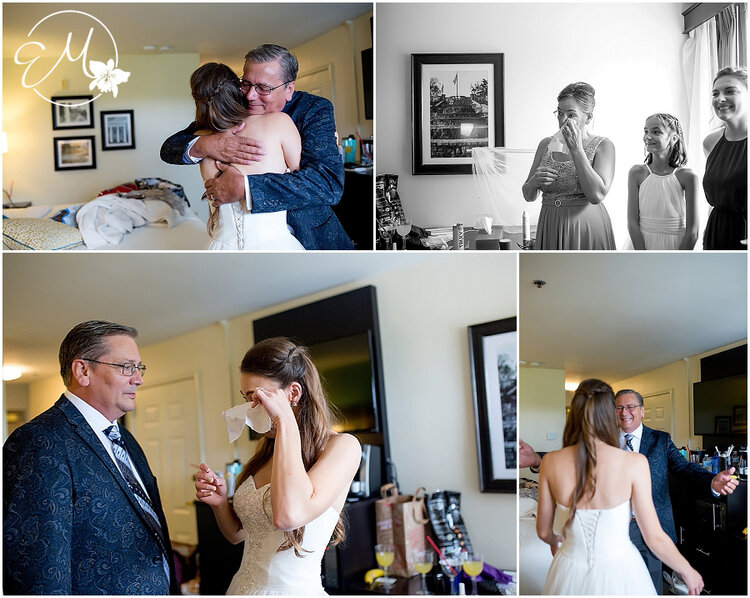 I love a good cry session resulting from dad seeing his beautiful little girl all dressed up for the first time!