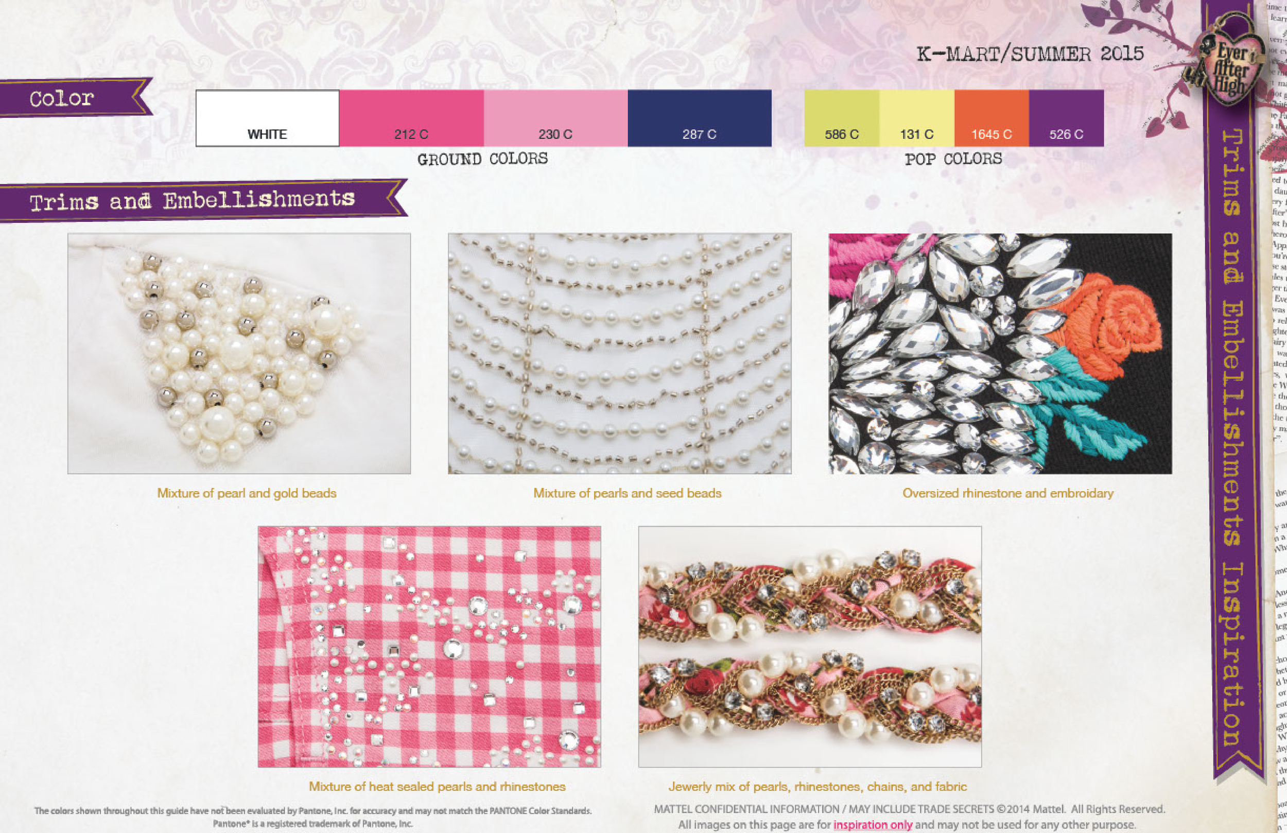 Fabrication and Embellishment Direction
