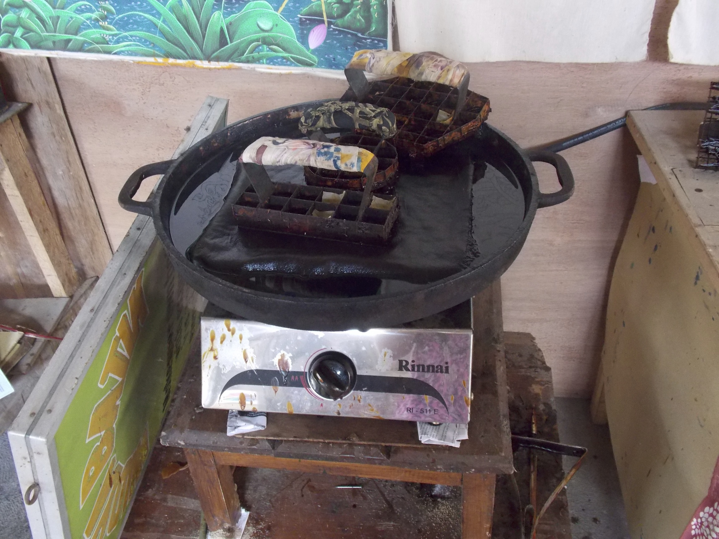 Hot Wax and Stamps for Batik