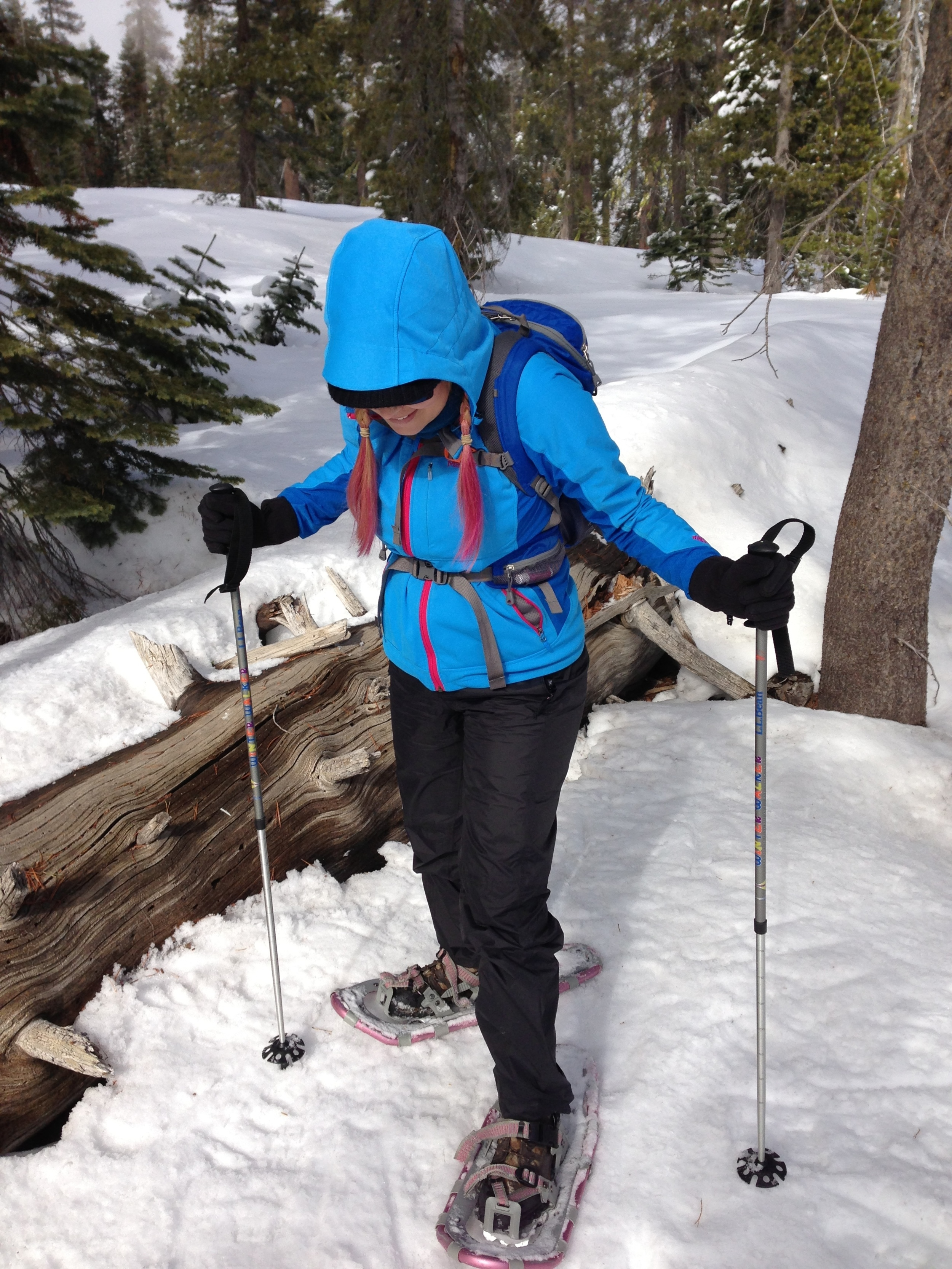 Snowshoeing off the trail