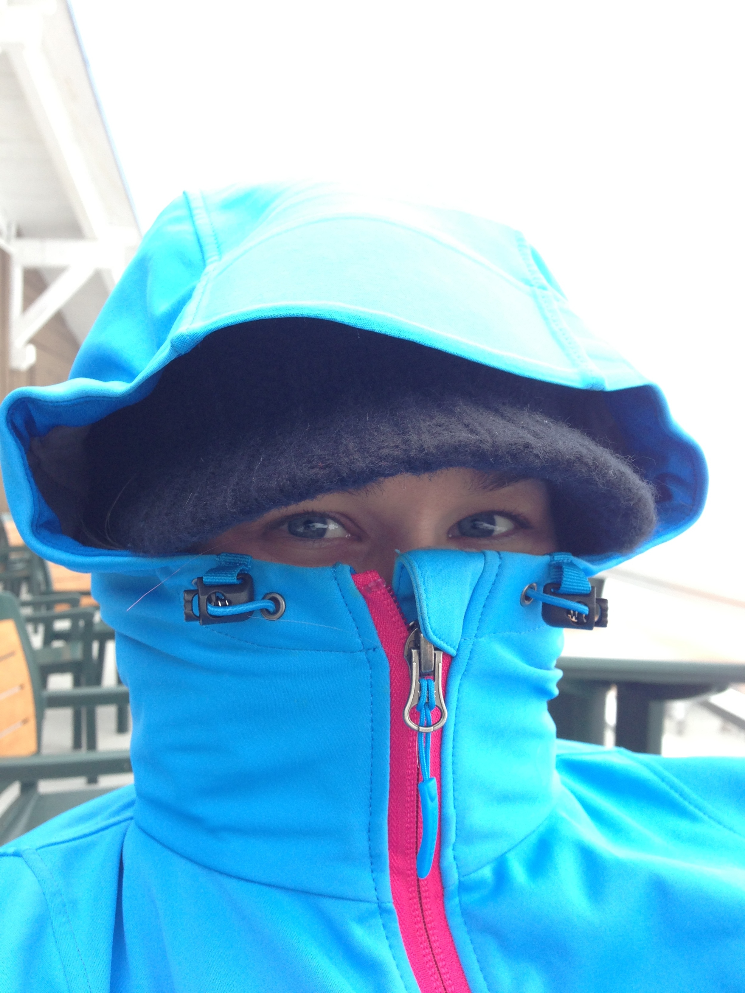 It was a little cold