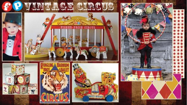 Vintage Circus Mood Board