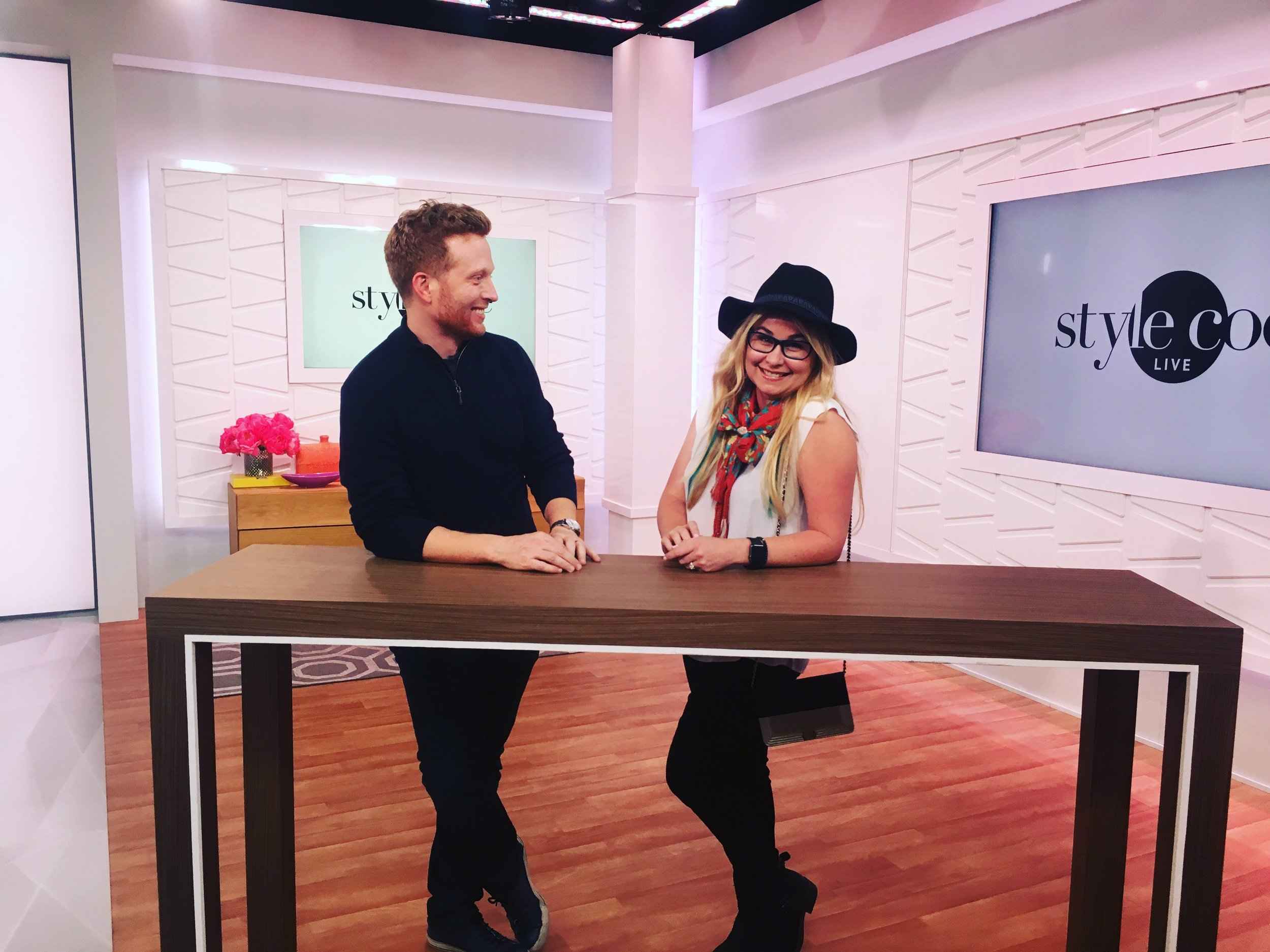 On the set of Style Code Live
