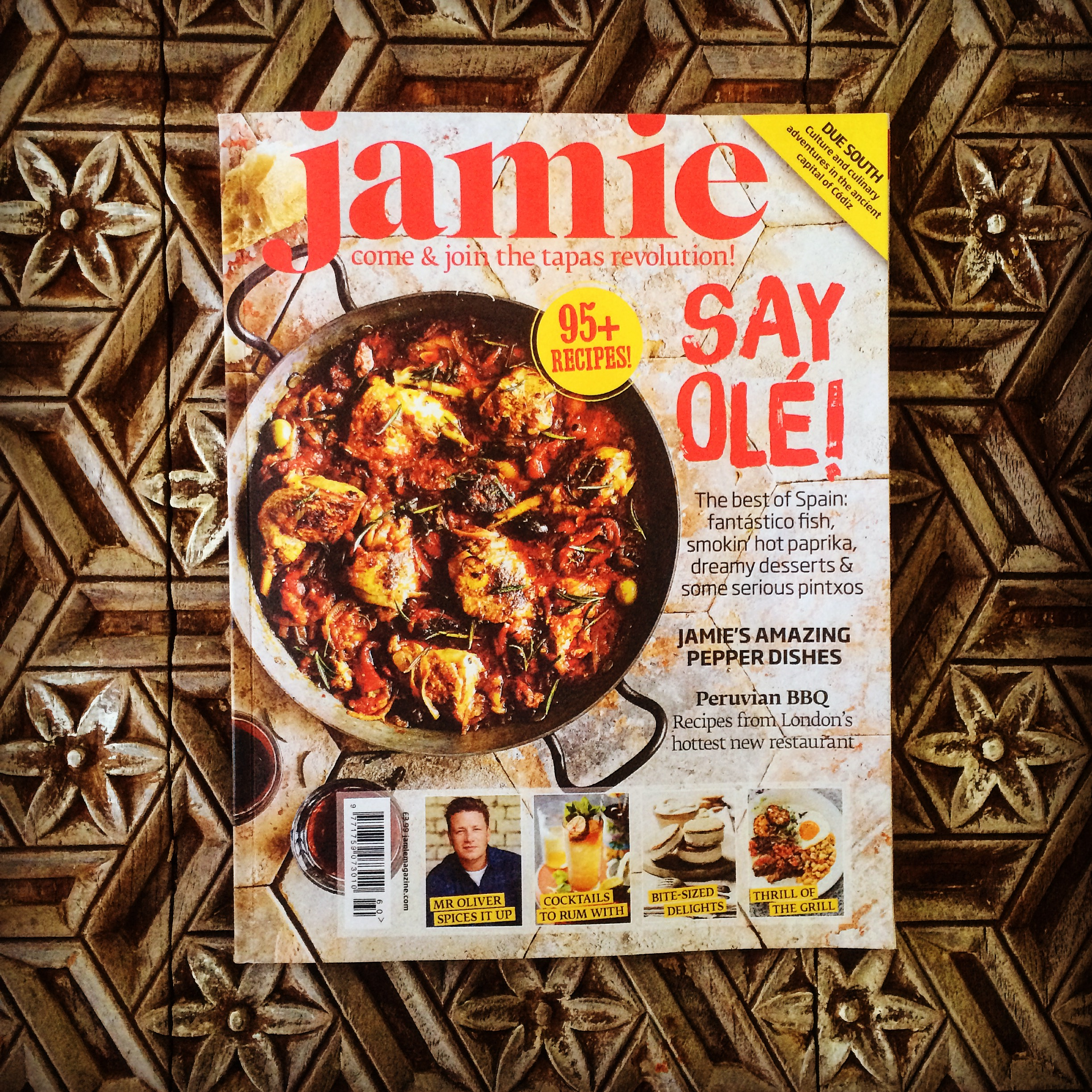 Assisted Sam Stowell on the front cover of Jamie Magazine  Jamie Magazine_July 2015  Food Styling & props_Pip Spence  Recipies_ Jamie Oliver