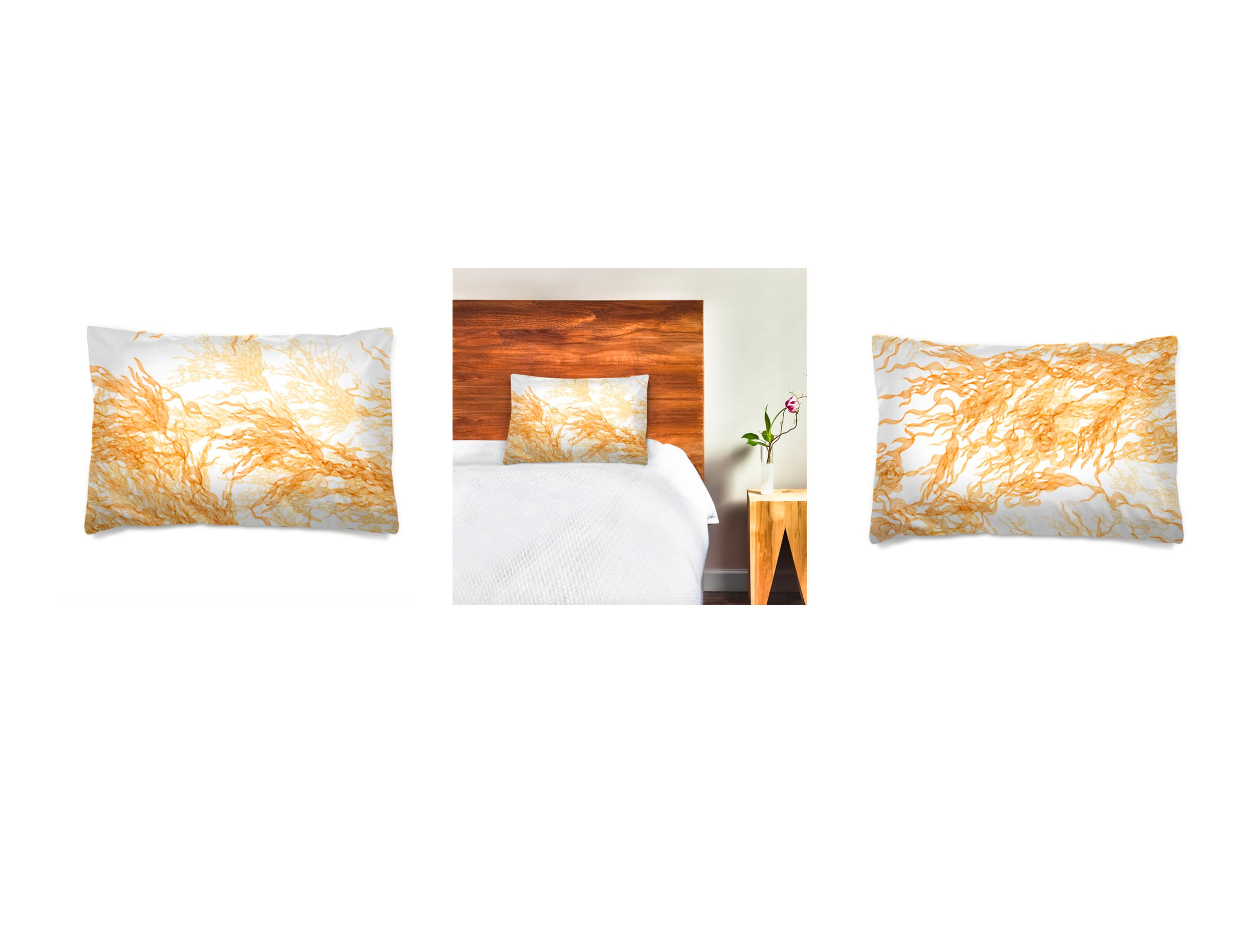 Flossie_Pillowcase_Gold Motif_Front&Back