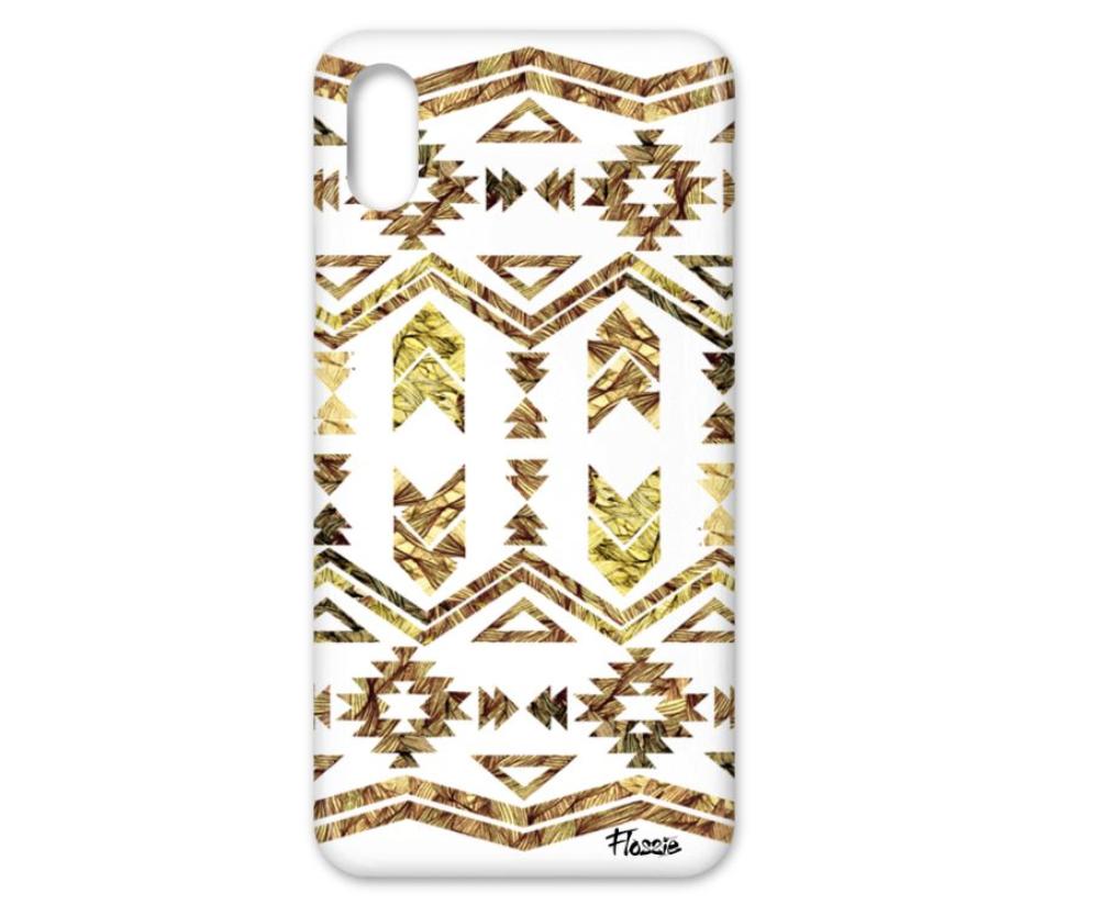 Flossie Natural Aztec iPhone X Case