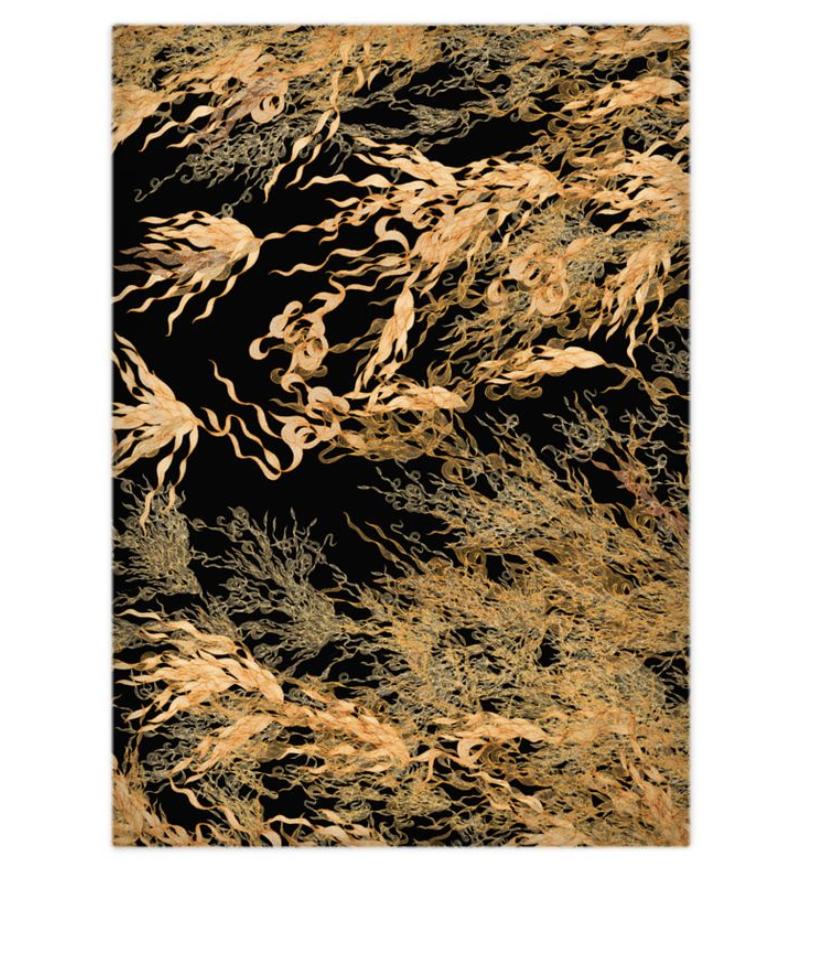 Noir Gold Flowing Duvet Covers