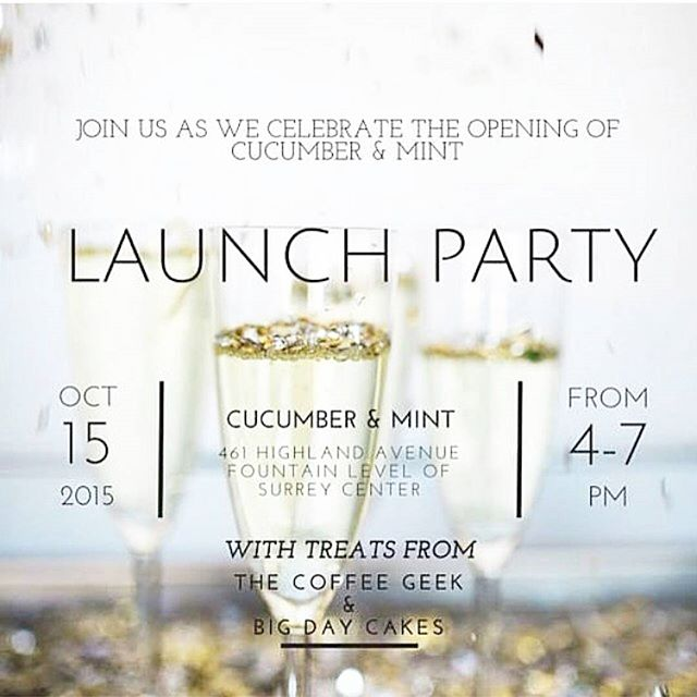 Brides! If you're interested in looking gorgeous on your wedding day, you need to get to know the ladies at @cucumberandmint! You and your entourage will feel like you're having your hair and make up done by an old  friend, and you will be radiant! Come see them tomorrow at their new location in Surrey Center and have a treat or two!