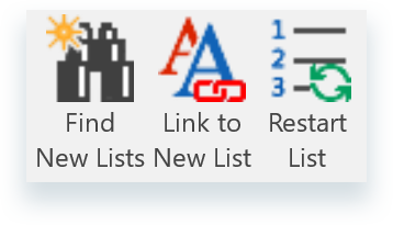 Pro List Numbering group on The Collection ribbon