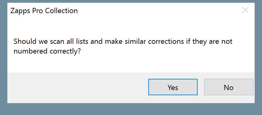 Restart Numbering Question