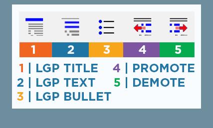 LGP Text Formatting buttons