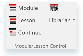 Module and Lesson buttons