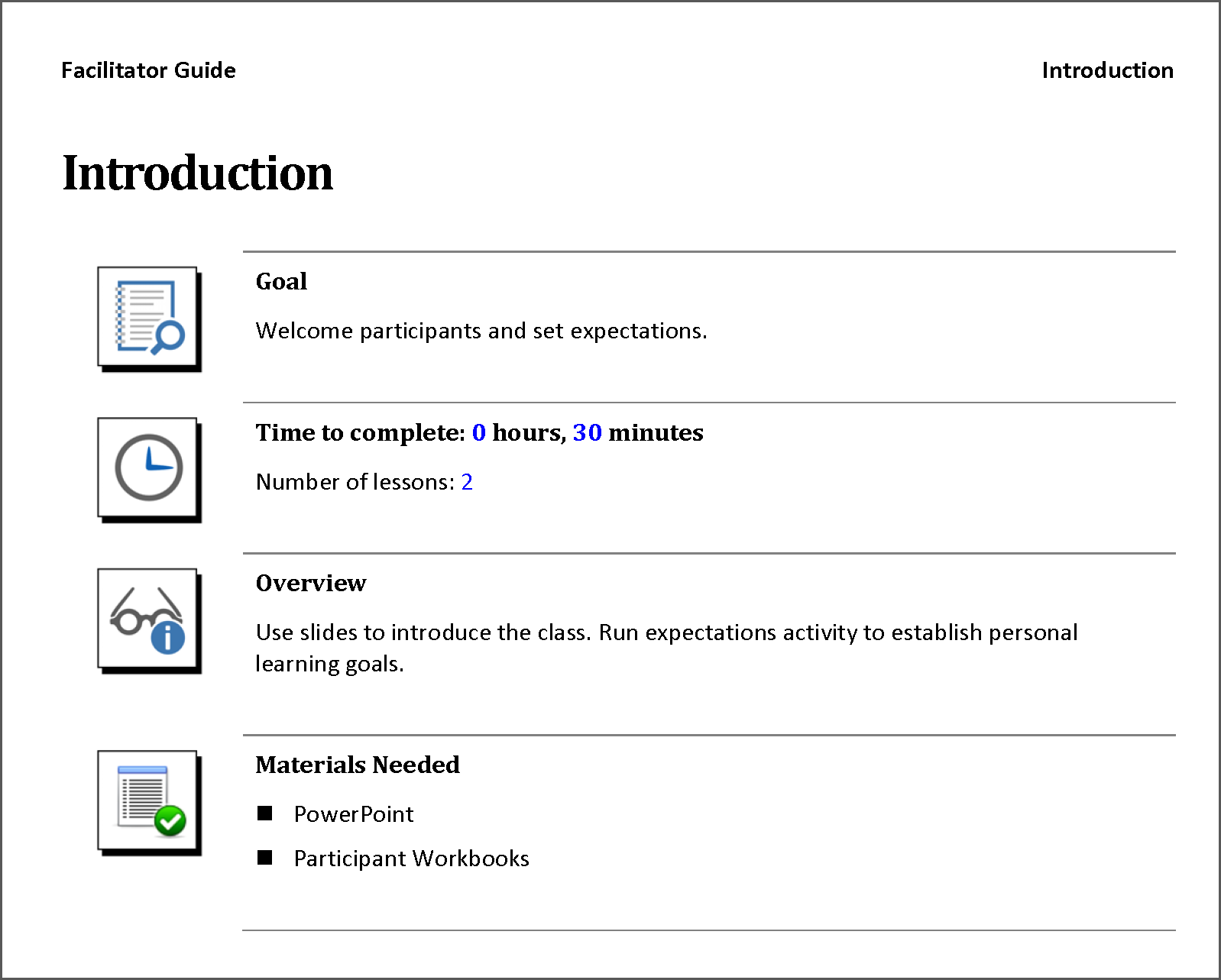 Module Overview Page