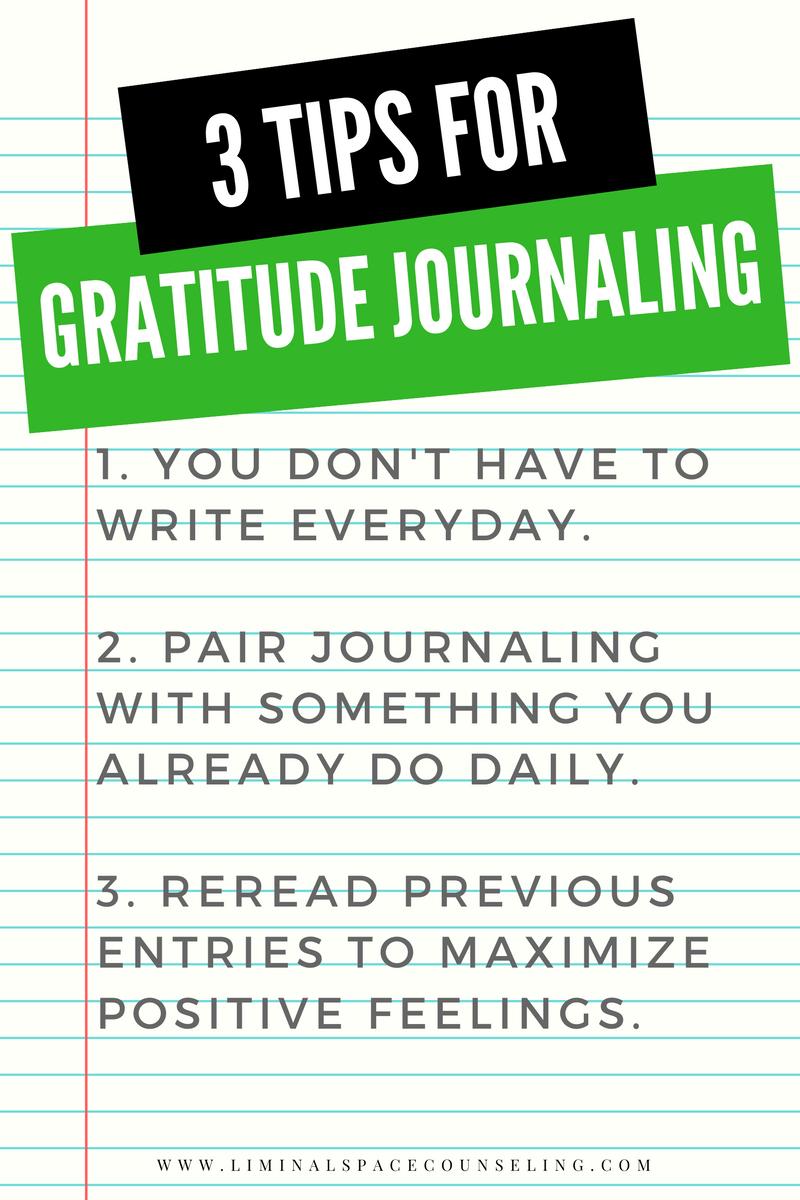gratitude journaling thanksgiving