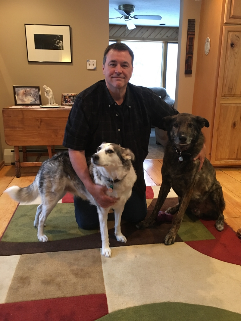 Dog Files producer, Kenn Bell, with Nikki and Chance.
