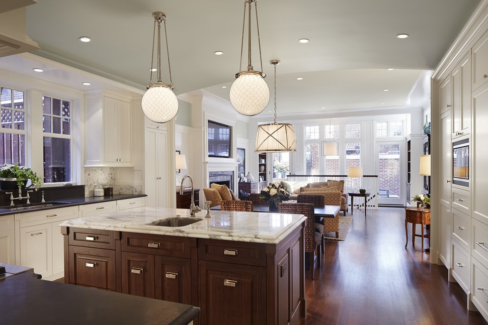 Open kitchen/family room by bba ARCHITECTS. Photo Credit: Steve Hall/Hedrich Blessing Photography via  Dering Hall .