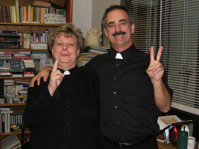 Raina and Dan...aspiring to be Fr. Joe