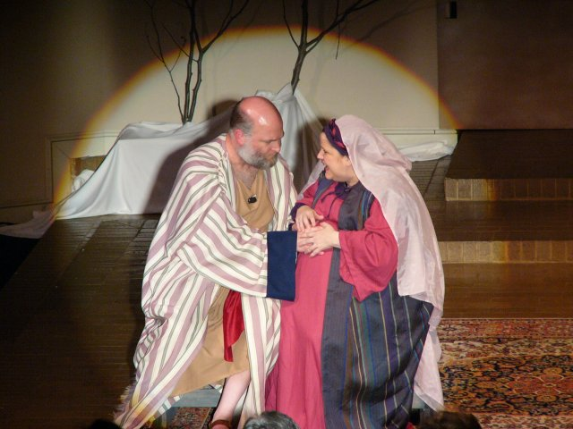A deaf mute Zachary feels baby John the Baptist stirring in Elizabeth's womb