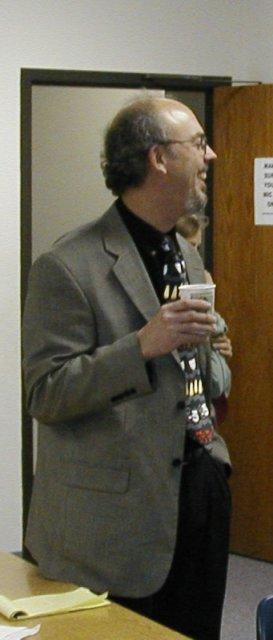 Director Larry Van Deventer having some fun backstage