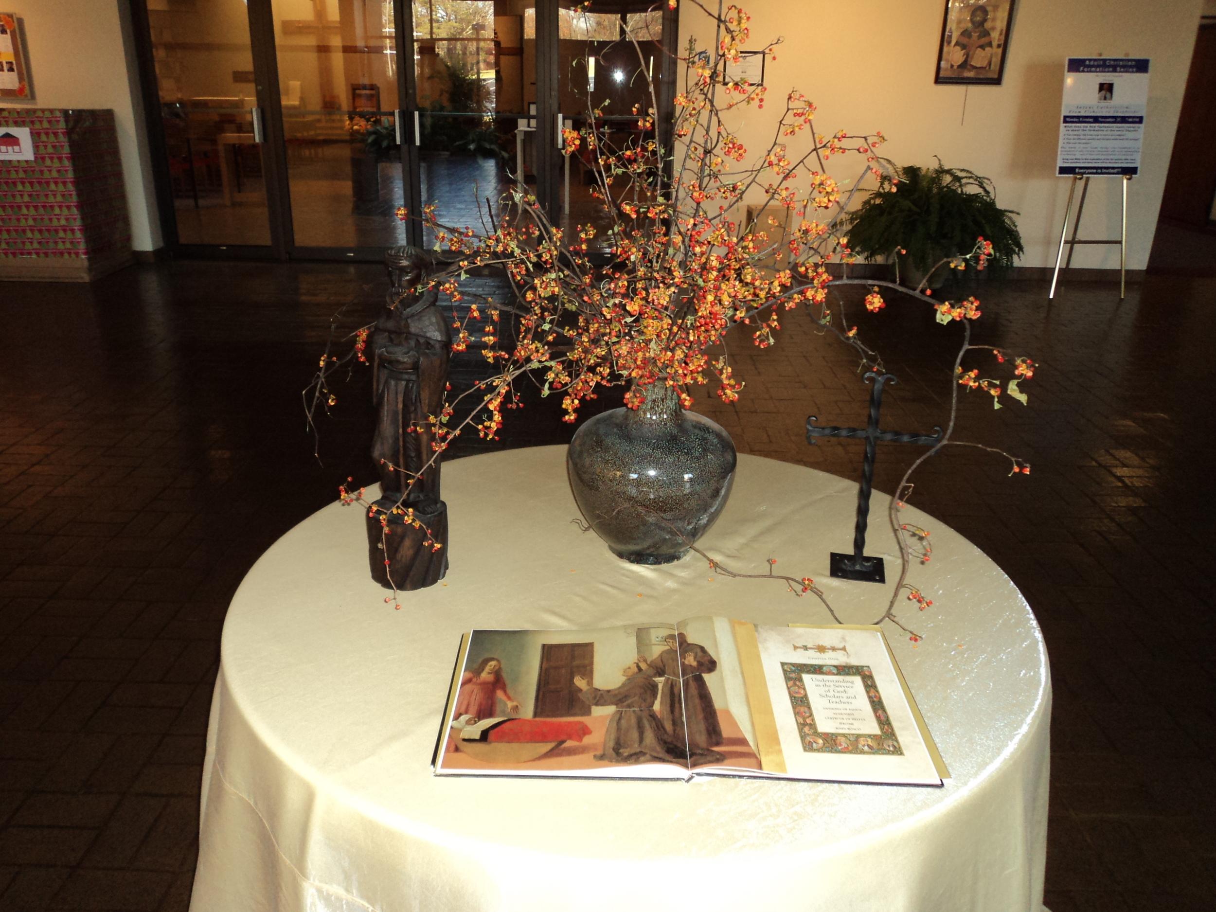 Saints floral table 2.JPG