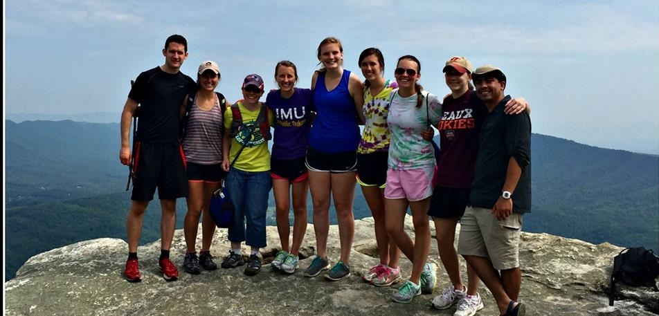 """""""There is nothing on this earth more to be prized than true friendship."""" - St. Thomas Aquinas A hike to McAfee Knob with Catholic friends within the RoanokeValley."""