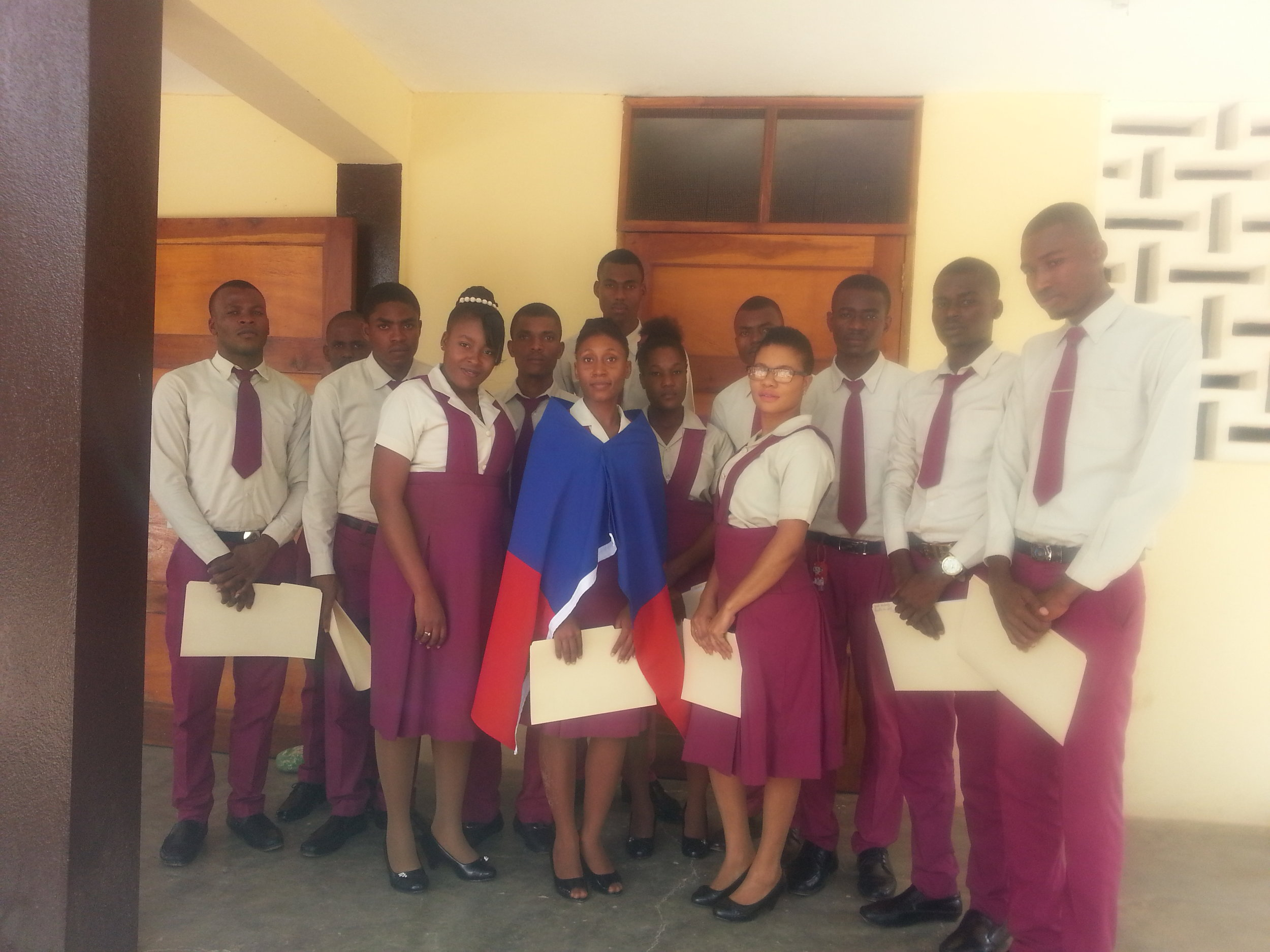 2016 Elected Student Council and President, Papaye Normal School