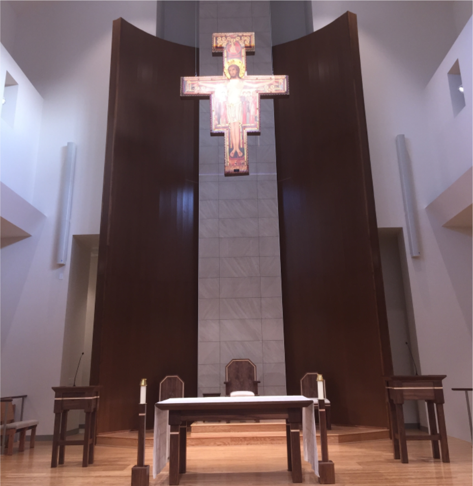Our renovation is complete. Click on picture to see the Dedication Mass and the renovated space. -