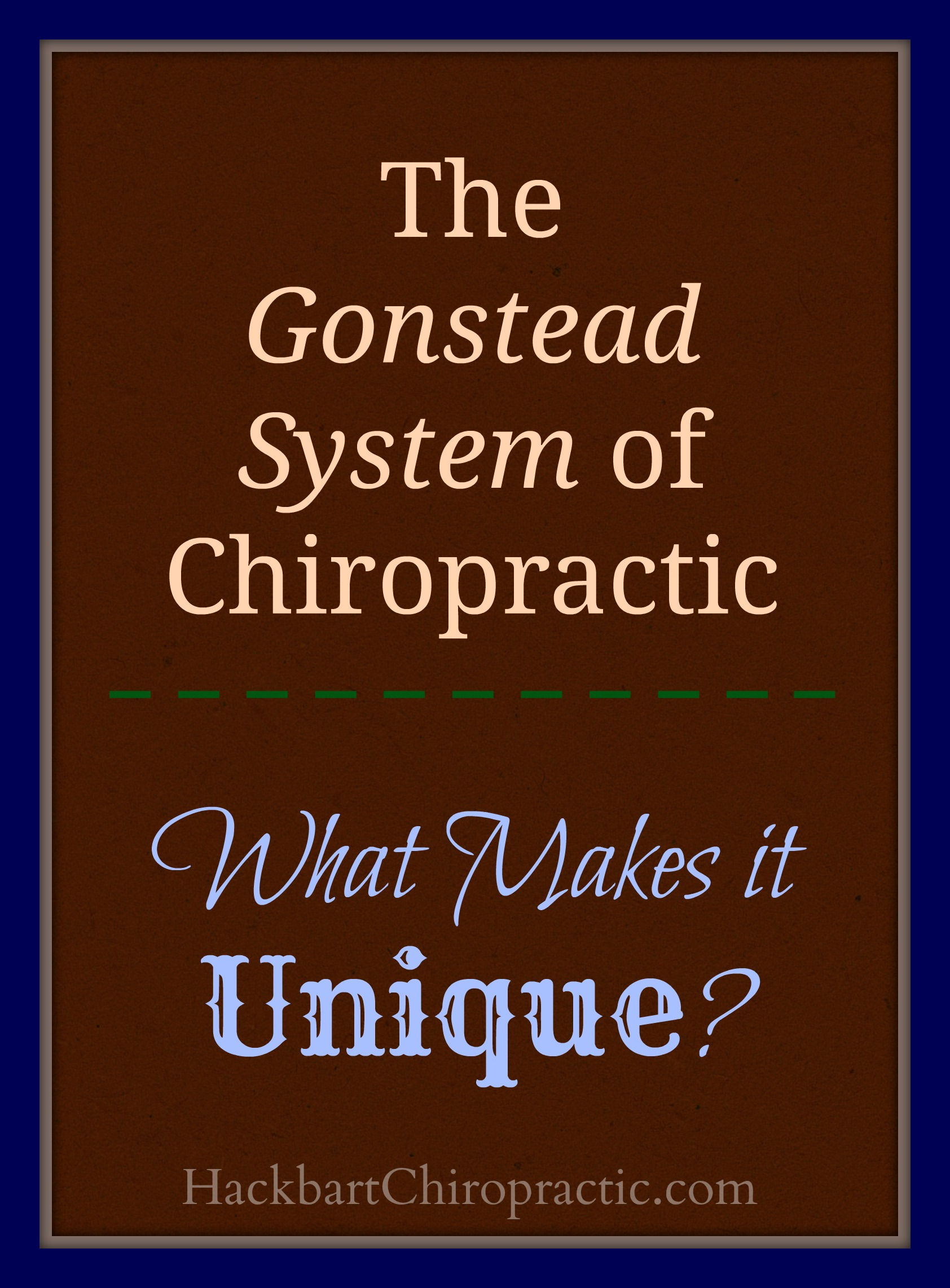 Gonstead System of Chiropractic