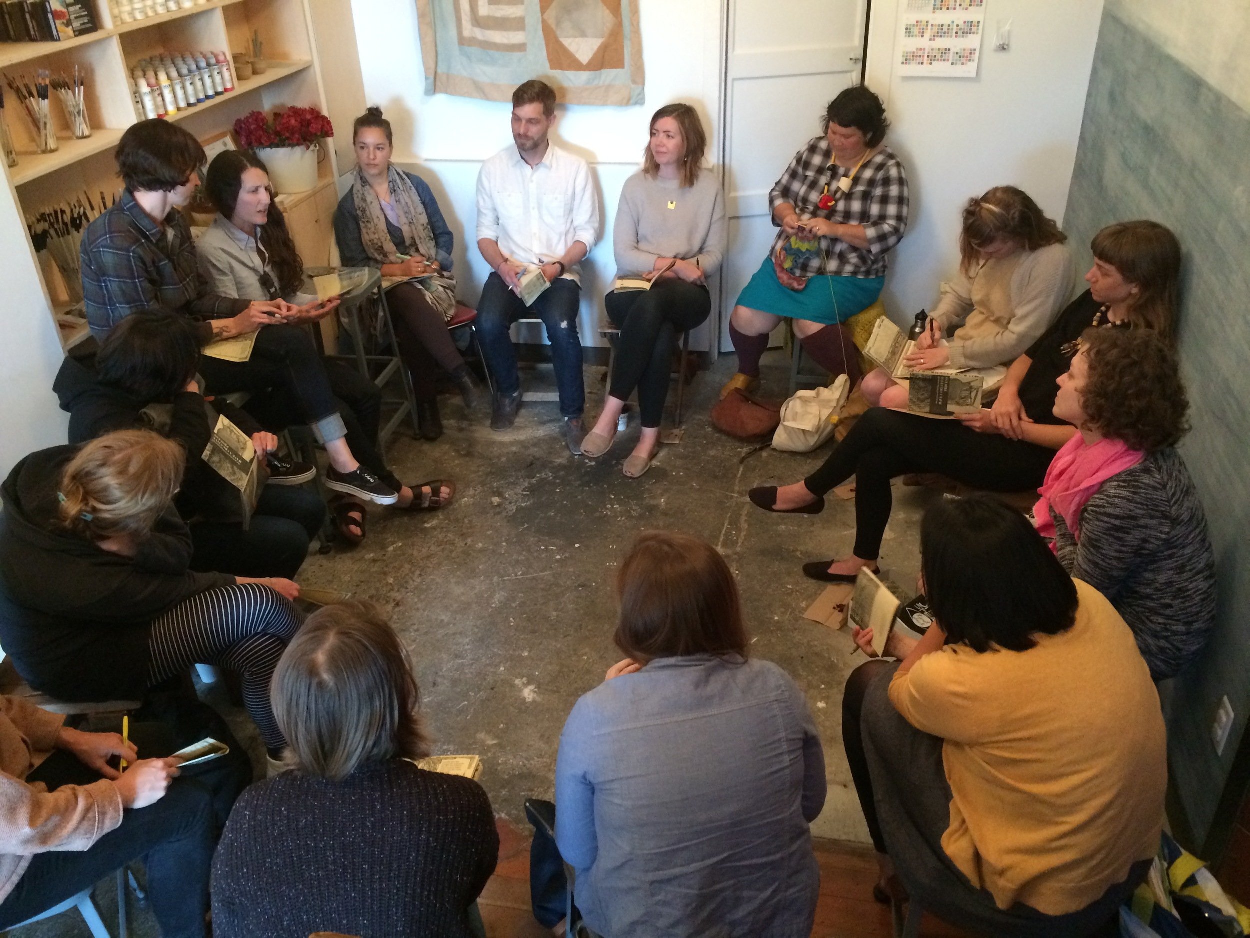 Leading a workshop with Marlee Grace (Have Company) at Case for Making in SF. May 6, 2015.