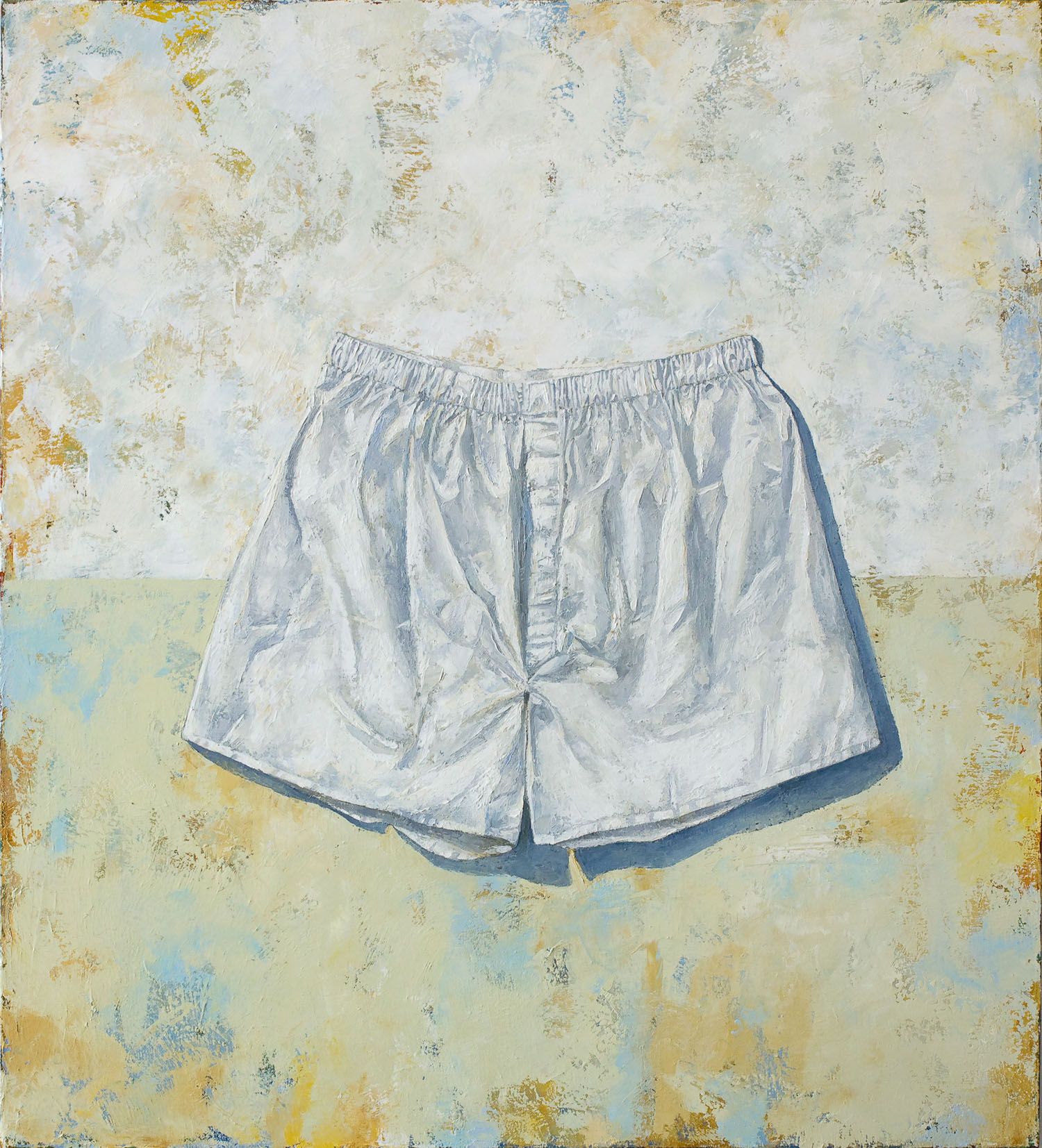 Steve's Shorts  2011 oil on canvas 44 x 40 inches  Private collection