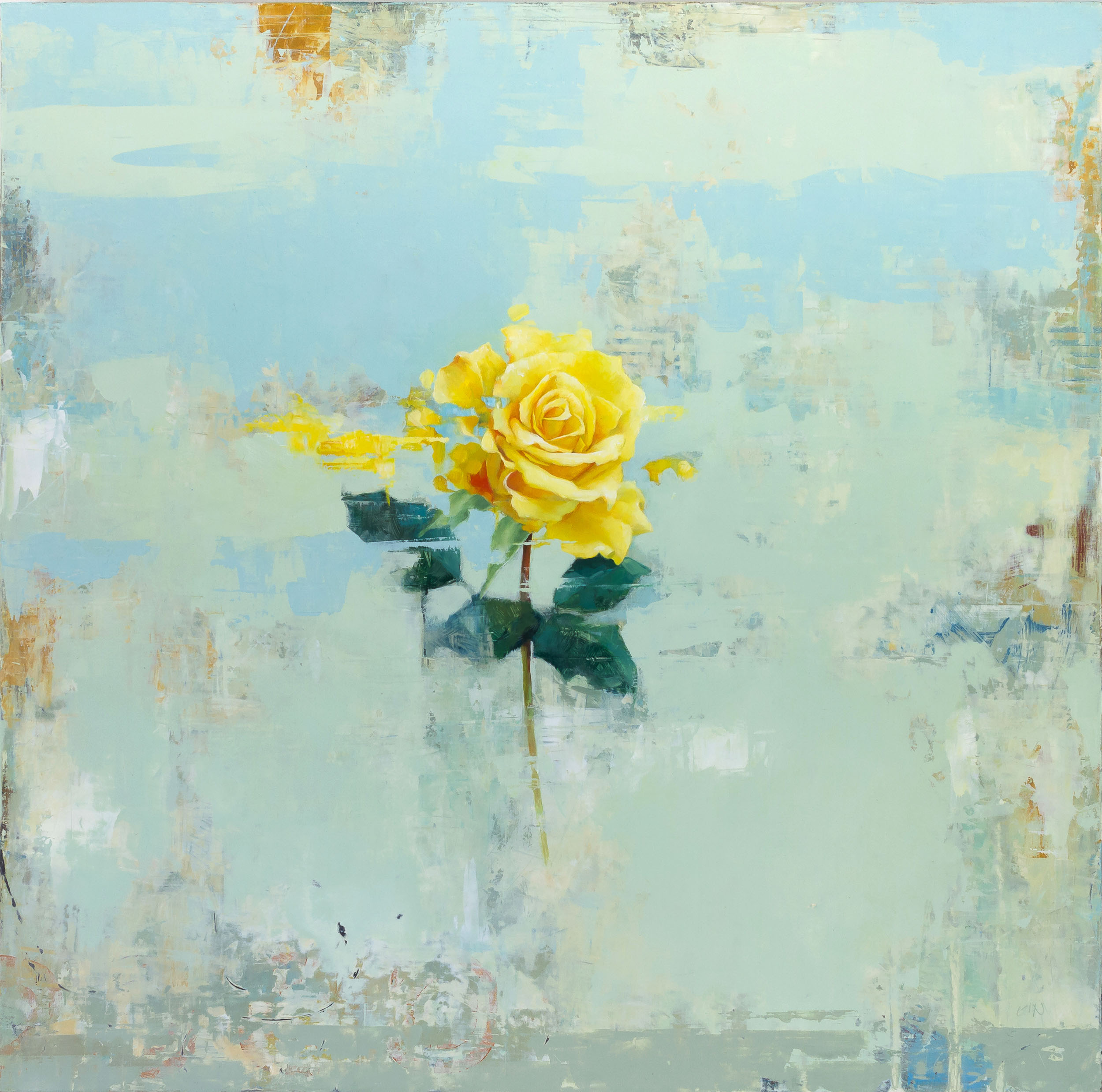Yellow Rose  2019 oil on panel 20 x 20 inches   Sold