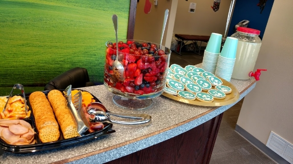 The snacks were a hit with moms and kids alike.
