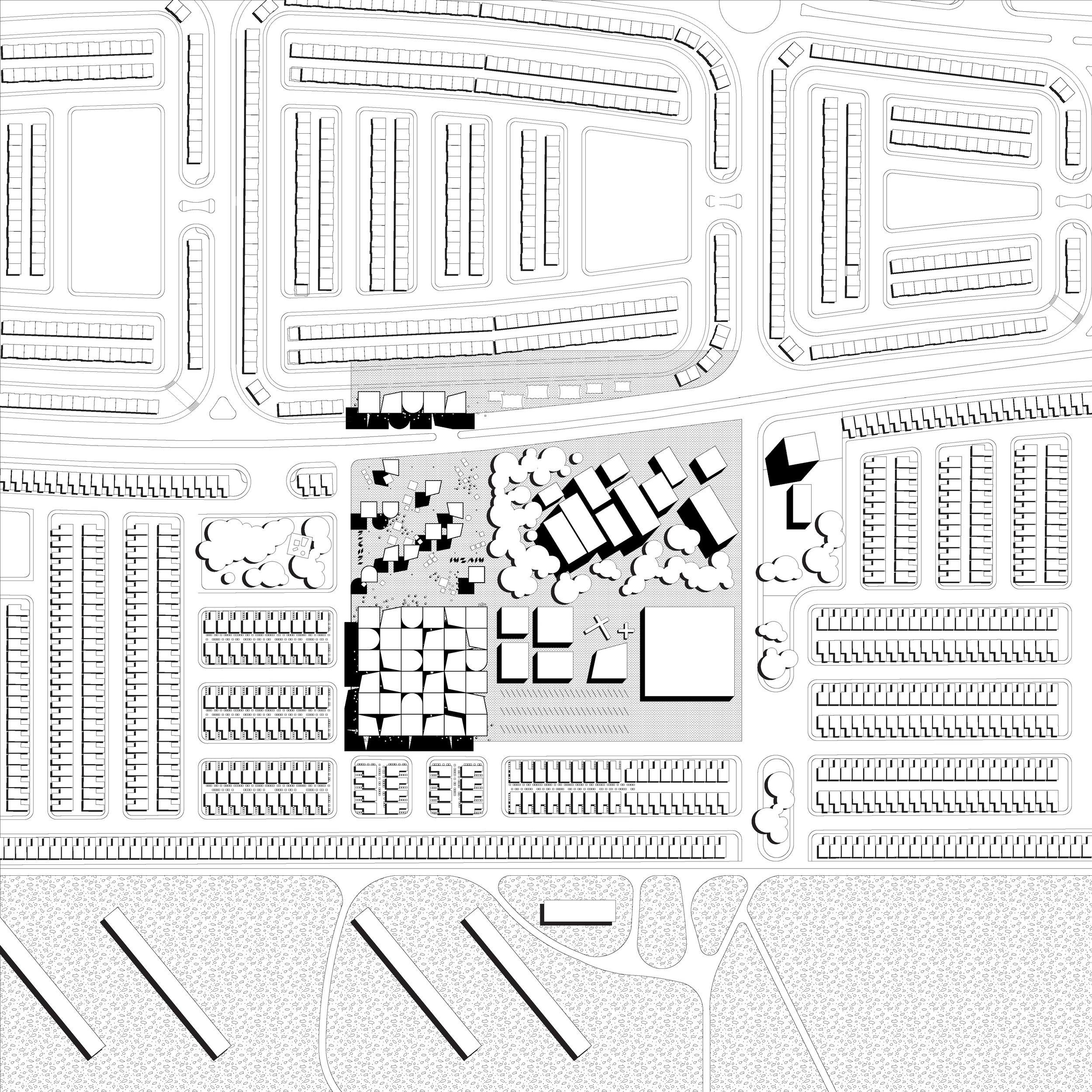 Site plan of market pocket