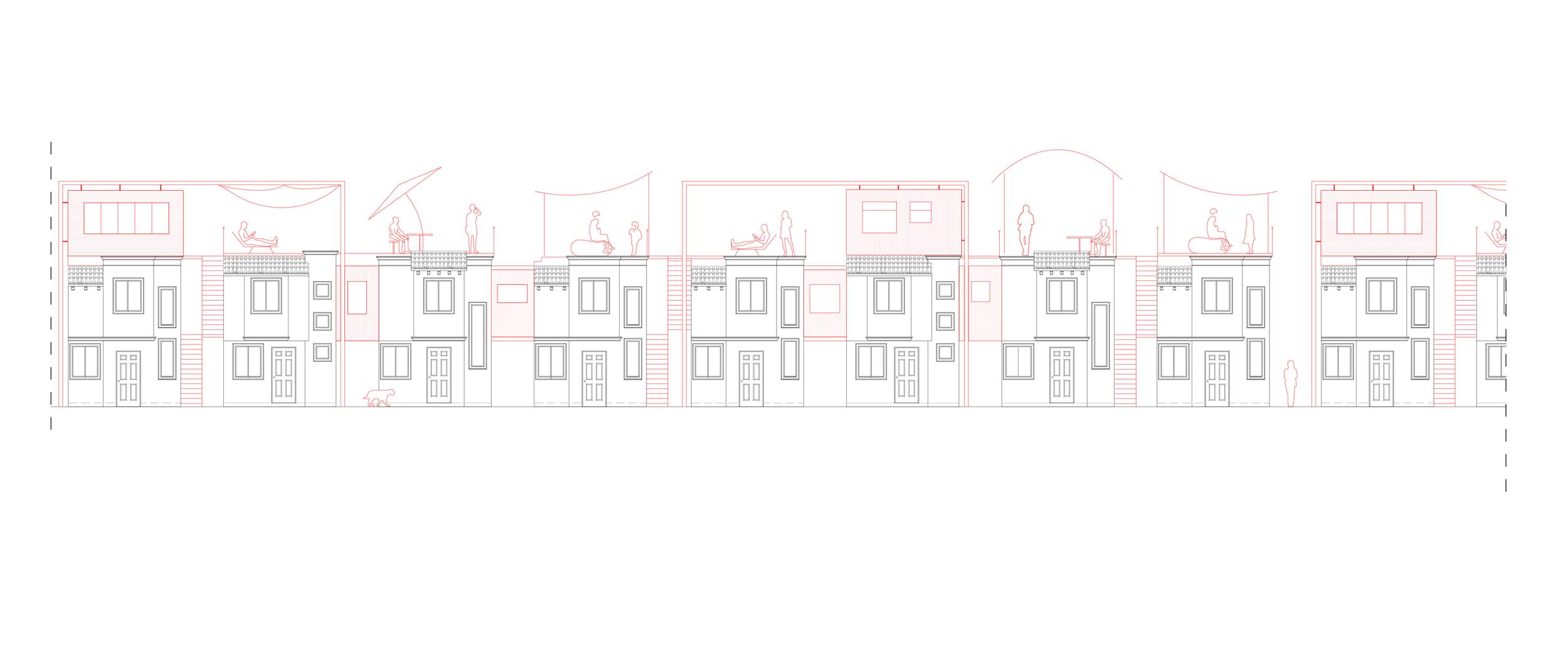 Rooftop extensions an horizontal infills