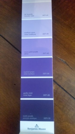 Paint chip from Benjamin Moore