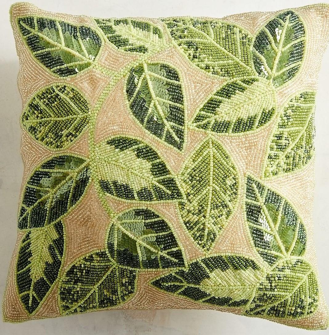 Green Beaded Pillow Pier 1 Imports.jpg